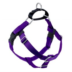 """2 Hounds - Freedom No-Pull Harness - Purple 1"""" Wide - Large"""