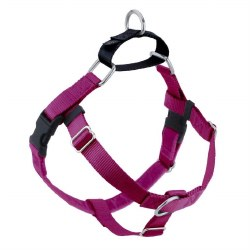 """2 Hounds - Freedom No-Pull Harness - Raspberry 5/8"""" Wide - Small"""