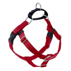 """2 Hounds - Freedom No-Pull Harness - Red 1"""" Wide - Medium"""