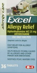 8in1 - Excel - Allergy Relief - 36 count