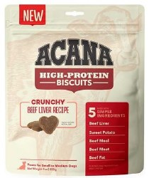 Acana - High Protein Biscuits - Beef Liver - Crunchy Treats - Small/Medium - 9 oz