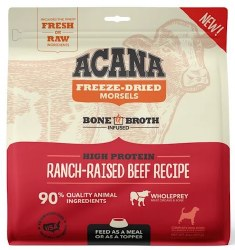 Acana - Freeze-Dried Morsels - Ranch-Raised Beef Recipe - Freeze-Dried Dog Food - 8 oz