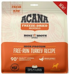 Acana - Freeze-Dried Morsels - Free-Run Turkey Recipe - Freeze-Dried Dog Food - 8 oz