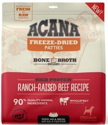 Acana - Freeze-Dried Patties - Ranch-Raised Beef Recipe - Freeze-Dried Dog Food - 14 oz