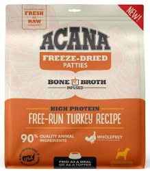 Acana - Freeze-Dried Patties - Free-Run Turkey Recipe - Freeze-Dried Dog Food - 14 oz