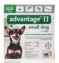 Advantage II - 1 lb -10 lb  Dog- 4 months