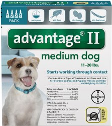 Advantage II - 11lb - 20 lb Dog - 4 months