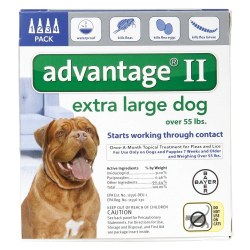 Advantage II -  55 lb and over Dog - 4 months