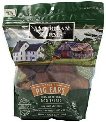 American Farms - Smoked Pig Ears - 20 pack
