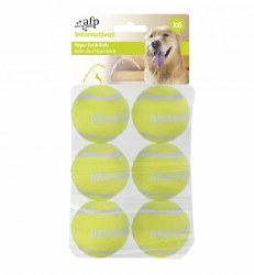 All For Paws - Dog Toy - Hyper Fetch - Tennis Balls - 6 pack