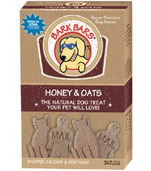Bark Bars - Dog Treats - Honey and Oats - 12 oz