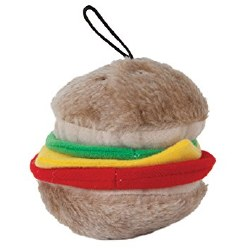 Aspen - Dog Toy - Soft Bite Hamburger - Medium