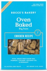 Bocce's Bakery - Crunchy Dog Treat - Grain Free Biscuts - Chicken - 12 oz