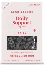 Bocce's Bakery - Crunchy Dog Treats - Daily Support - Belly Aid - Pumpkin and Ginger - 12 oz