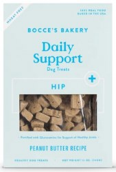 Bocce's Bakery - Crunchy Dog Treats - Daily Support - Hip Aid - Peanut Butter - 12 oz