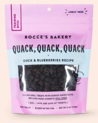 Bocce's Bakery - Chewy Dog Training Treats - Quack, Quack, Quack - 6 oz