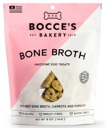 Bocce's Bakery - Crunchy Dog Treats - Limited Edition - Bone Broth - 5 oz