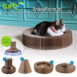Bergan - Cat Scratcher - Turbo Transform It - Tower and Bed 20""