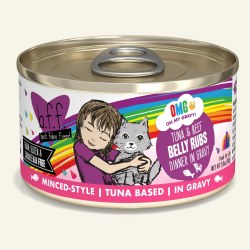 BFF OMG - Belly Rubs with Tuna & Beef - Canned Cat Food - 2.8 oz