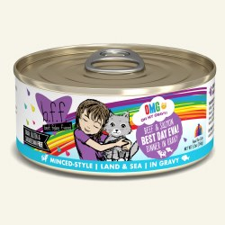 BFF OMG - Best Day Eva with Beef & Salmon - Canned Cat Food - 5.5 oz