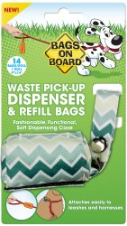 Bags on Board - Poop Bag Dispencer - Fabric - Chevron