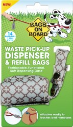 Bags on Board - Poop bag Dispencer - Fabric - Diamond
