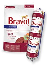 IN STORE AND CURB-SIDE PICK UP ONLY - Bravo - Balance Beef Chub - Raw Dog Food - 5 lb