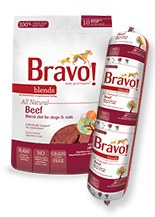 IN STORE AND CURB-SIDE PICK UP ONLY - Bravo - Blends Beef Chub - Raw Dog Food - 5 lb
