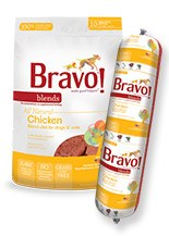IN STORE AND CURB-SIDE PICK UP ONLY - Bravo - Blends Chicken Chub - Raw Dog Food - 2 lb