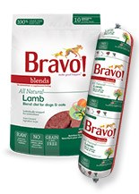 IN STORE AND CURB-SIDE PICK UP ONLY - Bravo - Blends Lamb Chub - Raw Dog Food - 2 lb