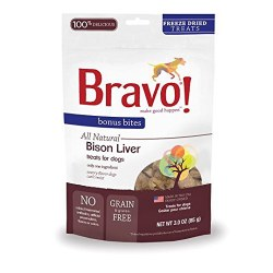 Bravo - Bison Liver - Dog Treats - 3 oz