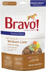 Bravo - Venison Liver - Dog Treats - 3 oz
