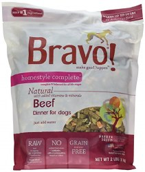 Bravo - Homestyle Complete Beef - Freeze Dried Dog Food - 2 lb