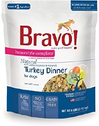 Bravo - Homestyle Complete Turkey - Freeze Dried Dog Food - 6 lb