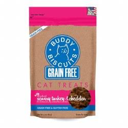 Buddy Biscuits - Cat Treats - Savory Turkey & Cheddar - 3 oz