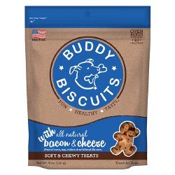 Buddy Biscuits - Dog Treats - Soft and Chewy - Bacon & Cheese - 6 oz