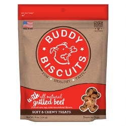 Buddy Biscuits Original - Soft and Chewy Grilled Beef - Dog Treats - 6 oz