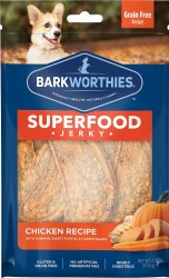 Barkworthies - Superfood Jerky - Chicken with Pumpkin - 4 oz