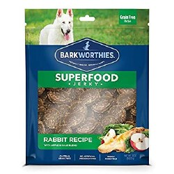 Barkworthies - Superfood Jerky - Rabbit with Apple - 4 oz