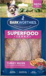 Barkworthies - Superfood Jerky - Turkey with Cranberry - 4 oz
