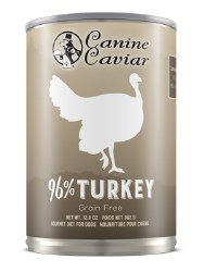Canine Caviar - 96% Turkey - Canned Dog Food - 13 oz