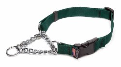 Cetacea - Chain Martingale Collar - Forest Green - Small