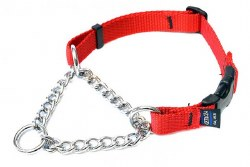 Cetacea - Chain Martingale Collar - Red - XL