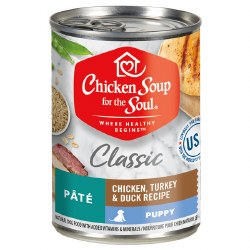 Chicken Soup for the Soul - Classic Puppy Chicken, Turkey & Duck Pate - Canned Dog Food - 13 oz