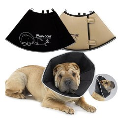 All For Paws - The Comfy Cone - Black - Medium XLong