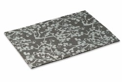 """Crypton Placemat - Cherries - Charcoal - 26x18"""""""