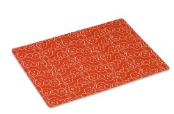 """Crypton Placemat - Dog Eared - Persimmon - 26x18"""""""