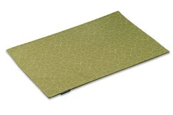 """Crypton Placemat - Loopy - Green - 26x18"""""""