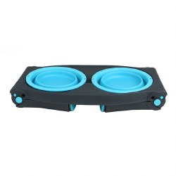 Dexas - Adjustable Raised Diner - Blue - 4 cups