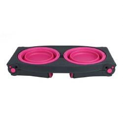 Dexas - Adjustable Raised Diner - Pink - 4 cups